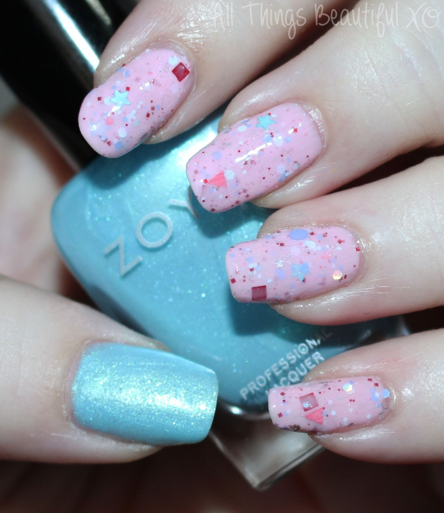 KBShimmer Sweet Egg-scape & Zoya Rayne in my March 2015 Beauty Favorites including It Cosmetics, Milani, KBShimmer, & More! 06