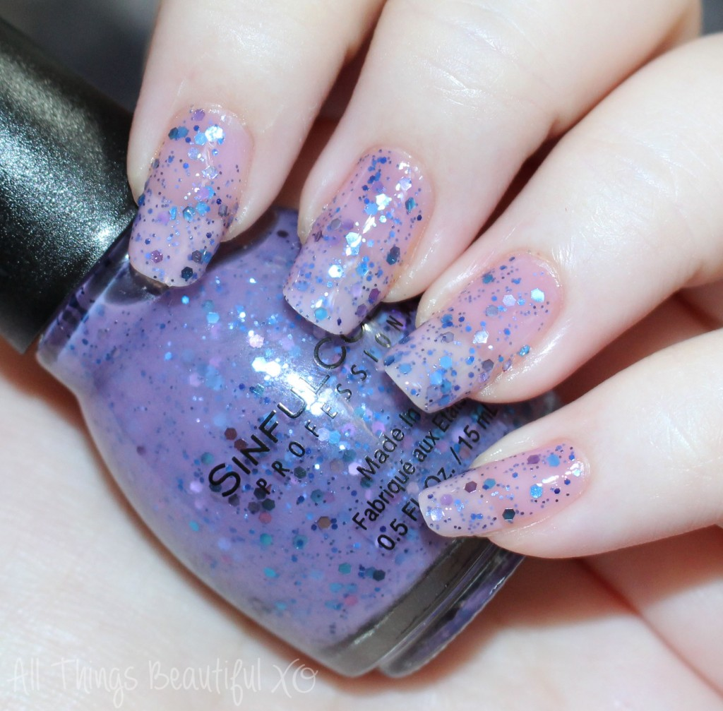 Sinful Colors BloomBlast Glitters Review & Swatches for Spring 2015 in the shades Flower Power, Petal Be the Day, & Standing Bloom Only from All Things Beautiful XO