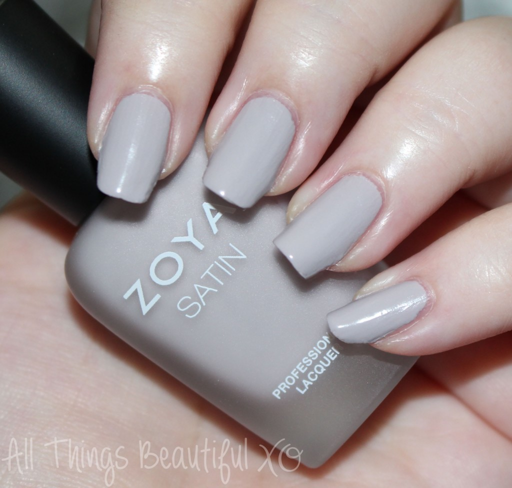 This is Zoya Leah from the Zoya Naturel Satin Nail Polish Collection for 2015 Swatches & Review on All Things Beautiful XO