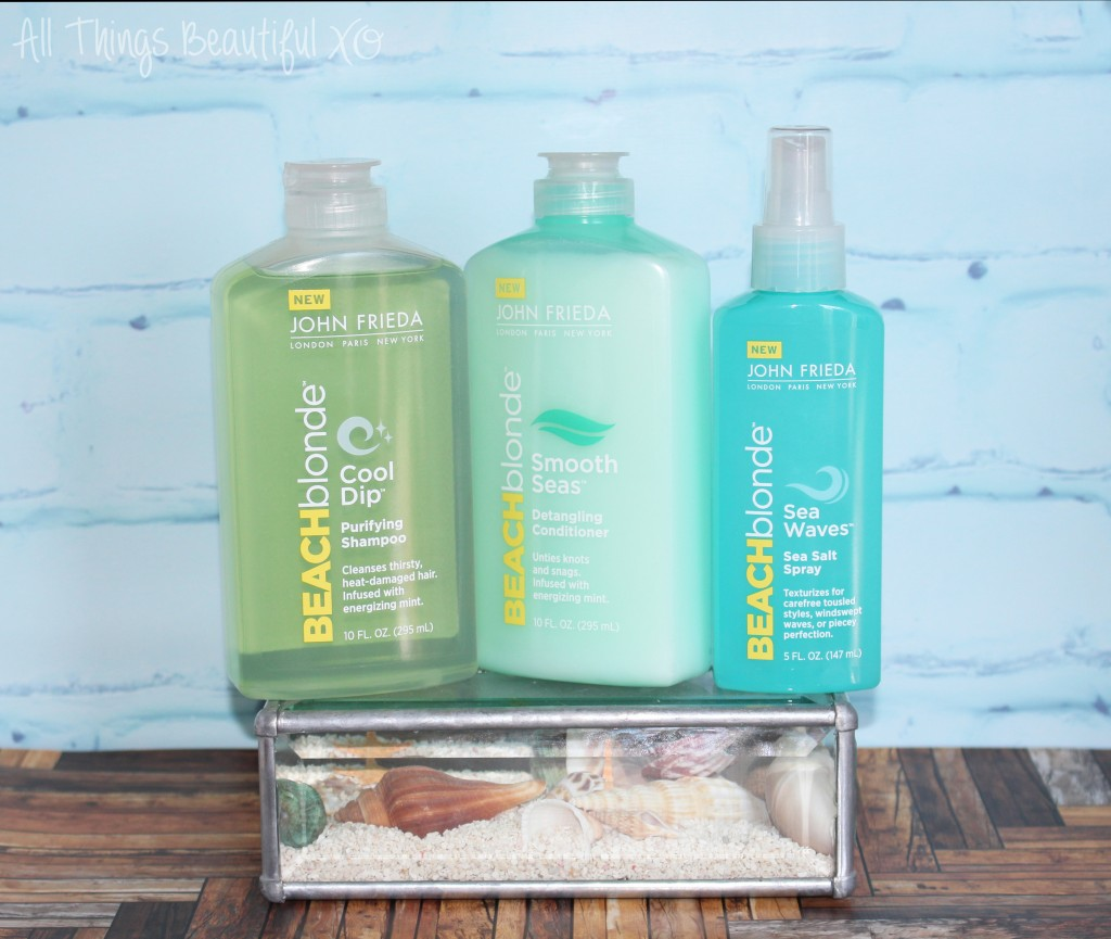 John Frieda Beach Blonde Beachy Hair Products Review on All Things Beautiful XO | www.allthingsbeautifulxo.com