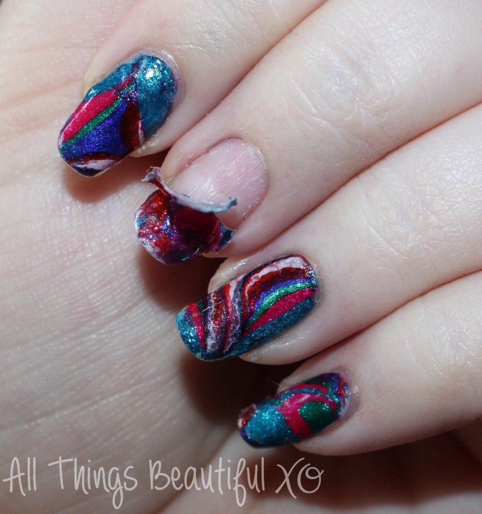 Review & demo of the NYC Strip Me Off Peel Off Basecoat- perfect for nail art & manicures that you want to remove effortlessly! on All Things Beautiful XO   www.allthingsbeautifulxo.com