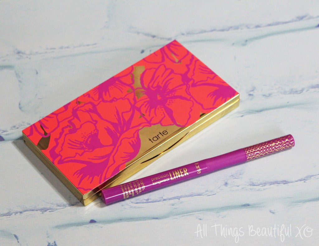 Check out my eyeshadow tutorial using the Tarte Poppy Picnic Palette & Tarte Precision Longwear + swatches & review on All Things Beautiful XO | www.allthingsbeautifulxo.com
