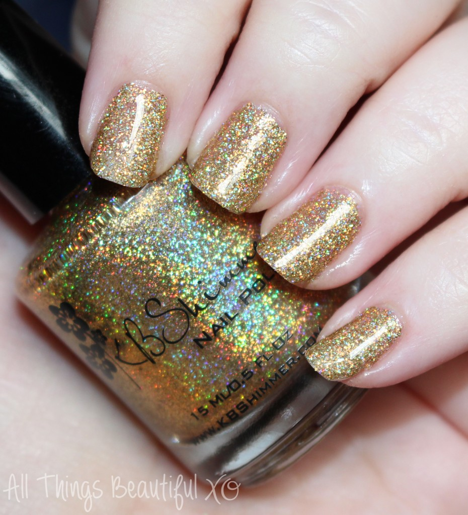KBShimmer Sun & Games from the KBShimmer Summer 2015 Nail Polish Swatches & Review with Glitter & Neons on All Things Beautiful XO | www.allthingsbeautifulxo.com