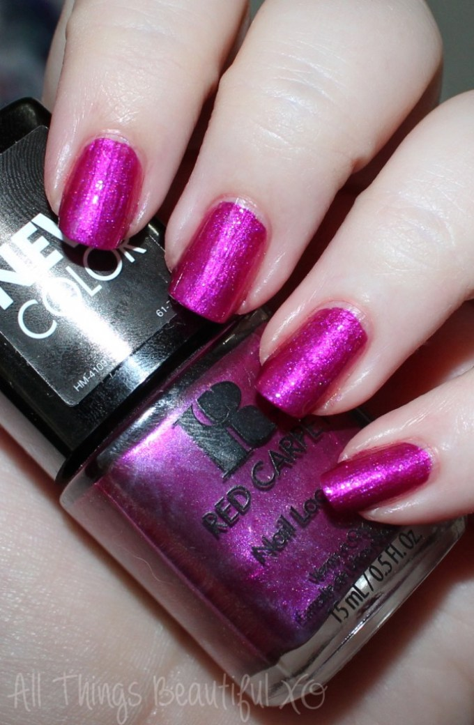 Red Carpet Nail Polish in Obsessed -- Gorgeous Red Carpet Manicure Nail Lacquers with Swatches & Review on All Things Beautiful XO | www.allthingsbeautifulxo.com