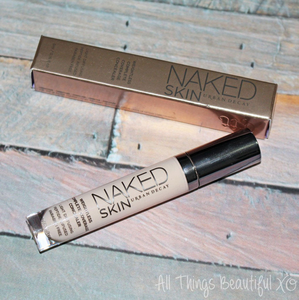 Urban Decay Naked Skin Weightless Complete Coverage Concealer Demo & Review on All Things Beautiful XO | www.allthingsbeautifulxo.com