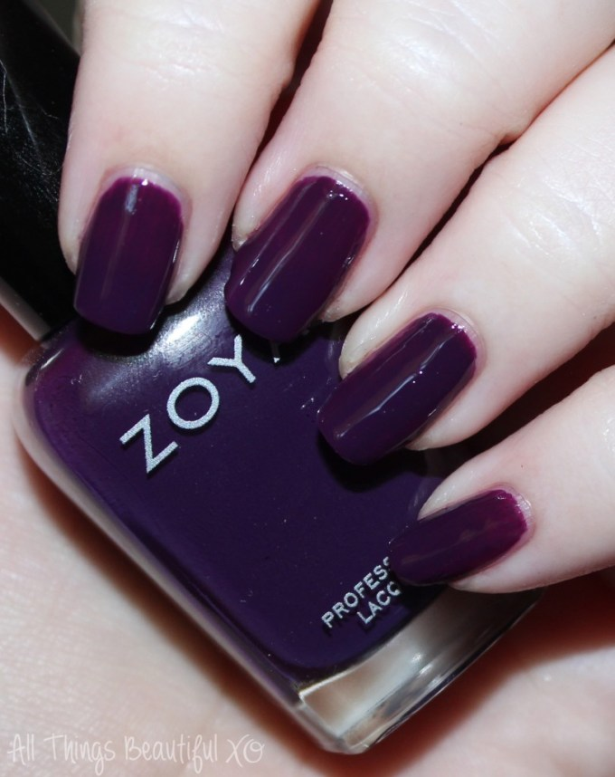 Zoya Nail Polish Swatch in Lidia  Swatches & Review of the Fall Focus Nail Polish Collection including Janel, Charli, Desiree, Hannah, Lidia, & Sia on All Things Beautiful XO | www.allthingsbeautifulxo.com