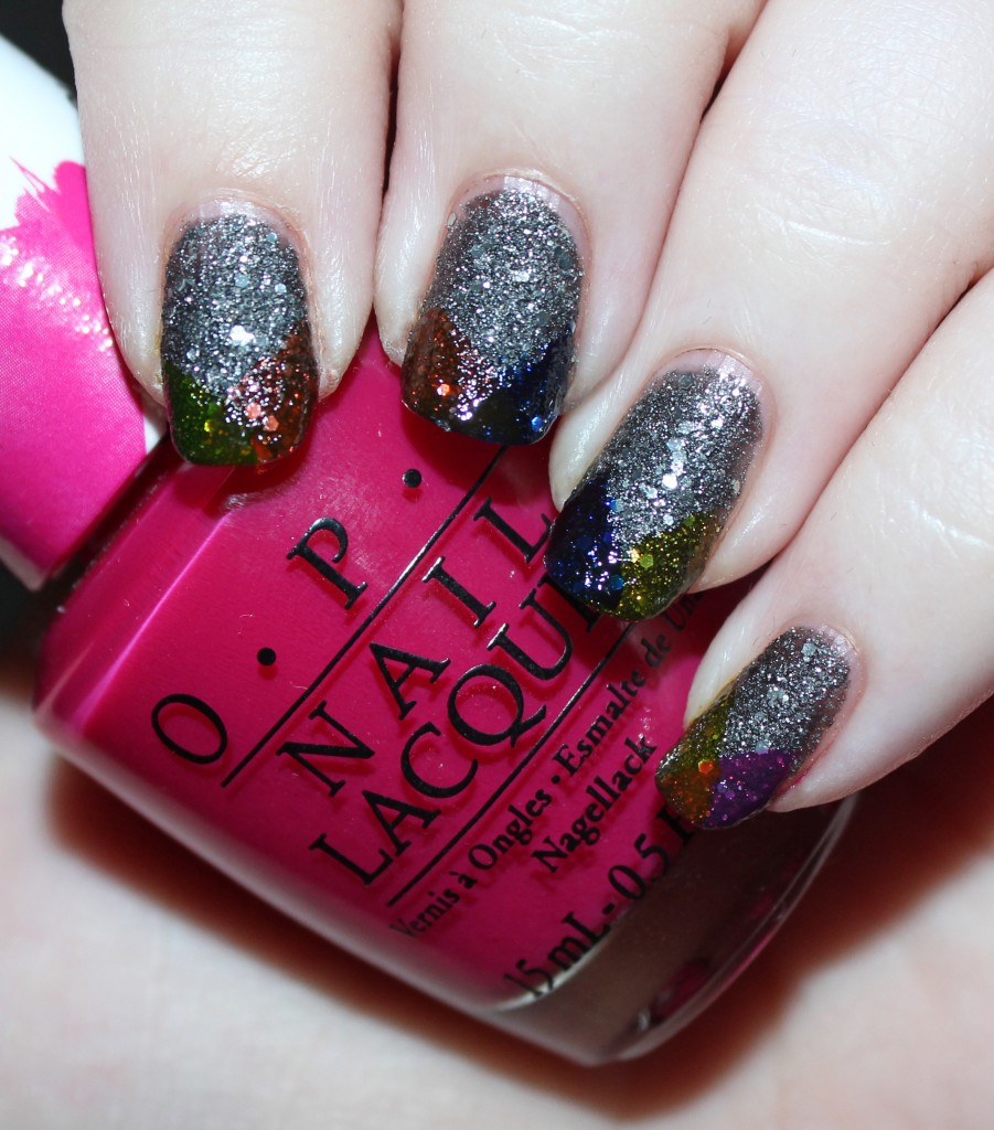 Super Easy Rainbow Tips Nail Art With Opi Color Paints All Things Beautiful Xo