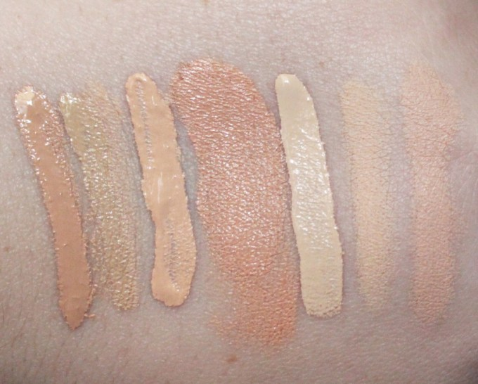 My Fall Concealer Wardrobe!  Check out my favorite concealers to use in autumn for undereyes, spots, lines, redness, & more! Check out the swatches & review on All Things Beautiful XO
