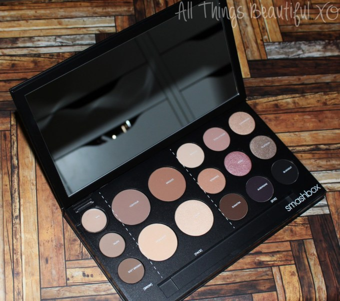 Swatches & review of the Smashbox Shape Matters Contour Face, Eye, & Brow Palette - the palette that does it all & saves you time...& space! Check out this gorgeous makeup palette on All Things Beautiful XO | www.allthingsbeautifulxo.com