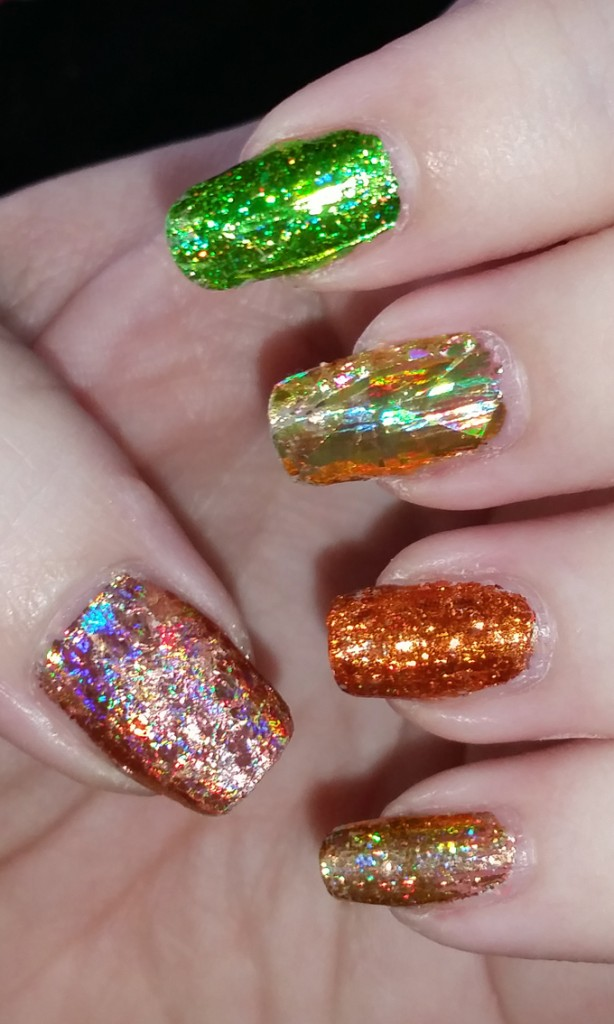 My Foil Autumn Spectacular Manicure- Fall Nail Art!