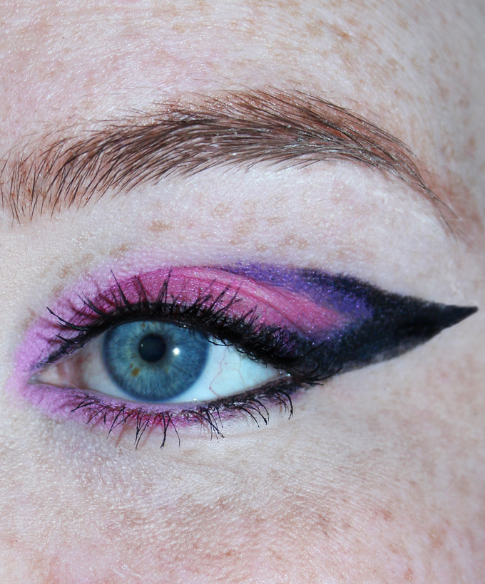 Pink & purple graphic eyeliner look using only Lancome eyeliners- the shade range is stunning!   Check out the stunning array of Lancome Drama Liqui-Pencils along with swatches, review, & even a graphic eye look! If you're looking for eyeliner pencils that go on pigmented, have an amazing color range, & won't budge then you've got to check these out! Read more on All Things Beautiful XO