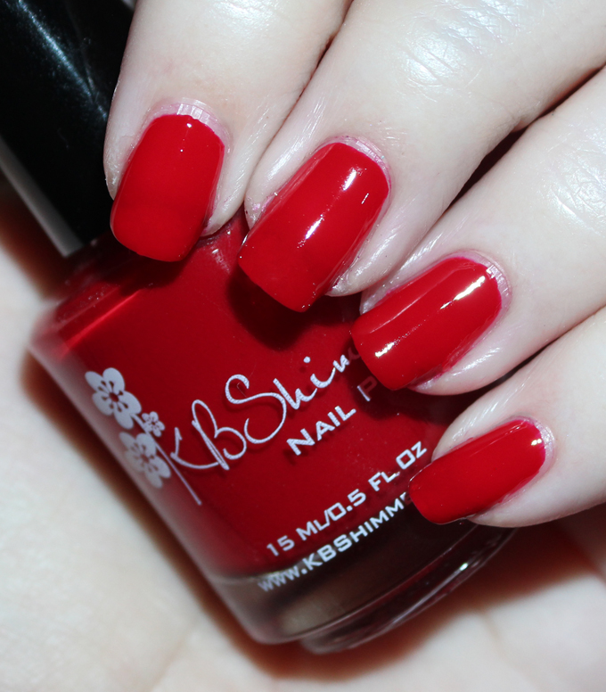 KBShimmer Winter Holiday Nail Polish Swatch in Chilly Pepper  Check out full swatches & review of all the KBShimmer Nail polish shades for winter/holiday- including some gorgeous holo & glitter options! Check them all out on All Things Beautiful XO