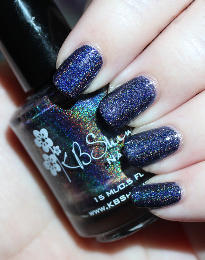 KBShimmer Winter Holiday Nail Polish Swatch in Claws and Effect  Check out full swatches & review of all the KBShimmer Nail polish shades for winter/holiday- including some gorgeous holo & glitter options! Check them all out on All Things Beautiful XO