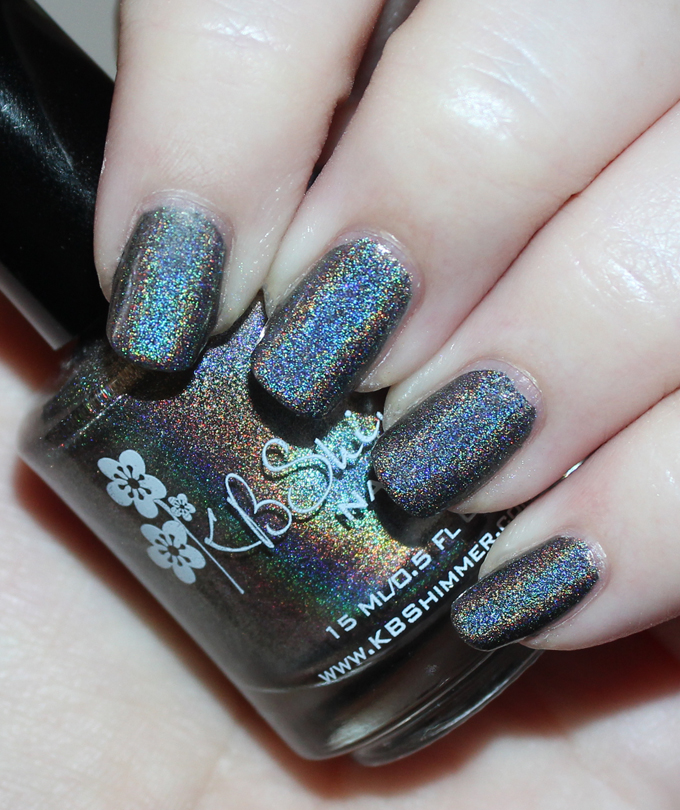 KBShimmer Winter Holiday Nail Polish Swatch in Cole in One  Check out full swatches & review of all the KBShimmer Nail polish shades for winter/holiday- including some gorgeous holo & glitter options! Check them all out on All Things Beautiful XO
