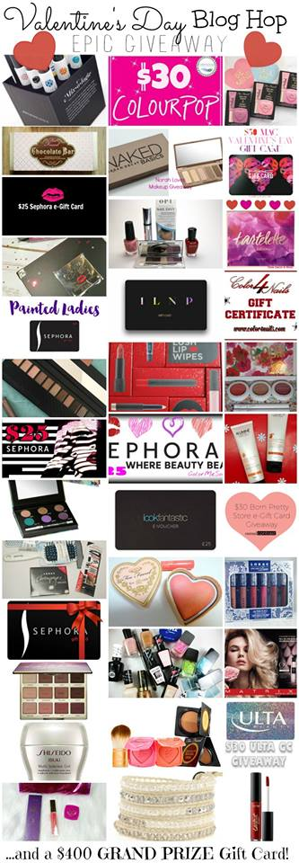 Valentine's Day Blog Hop Giveaway // EPIC #giveaway // Grand Prize $400 Gift Card! #beauty #makeup  + my giveaway for the Mixologie set is INTERNATIONAL! Build your own fragrance & get a pretty gift! Enjoy! Lots of chances to win!