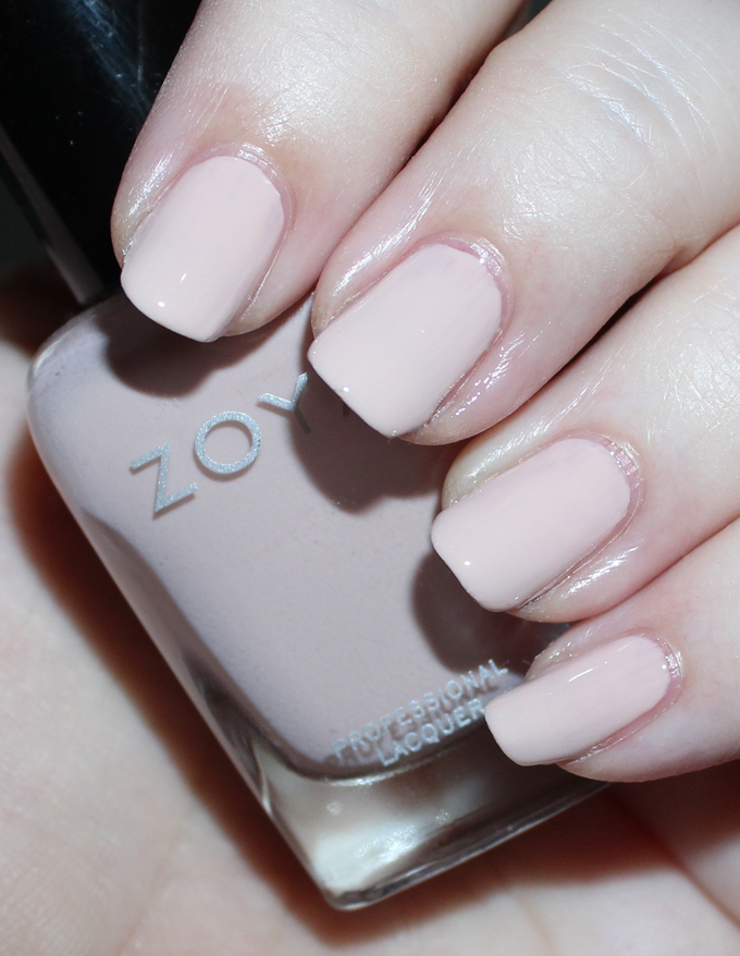ZOYA APRIL   Swatches & review of the Zoya Whispers Transitional 2016 Nail Polish Collection including the shades April, Cala, Lake, Eastyn, Ireland, & Misty on All Things Beautiful XO