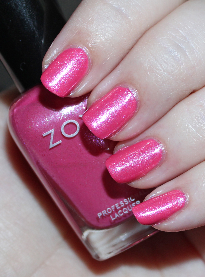 This is Zoya Azalea  Swatches & review of the Zoya Petals Collection including the shades Leia, Aster, Zahara, Laurel, Azalea, & Tulip. See more beauty, nail, tutorial, & glam posts on All Things Beautiful XO