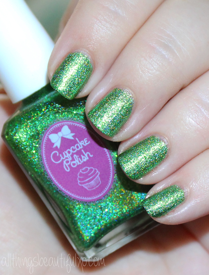 This is the shade Here Today Gone to Maui from Cupcake Polish  Cupcake Polish Luau Collection Swatches & Review