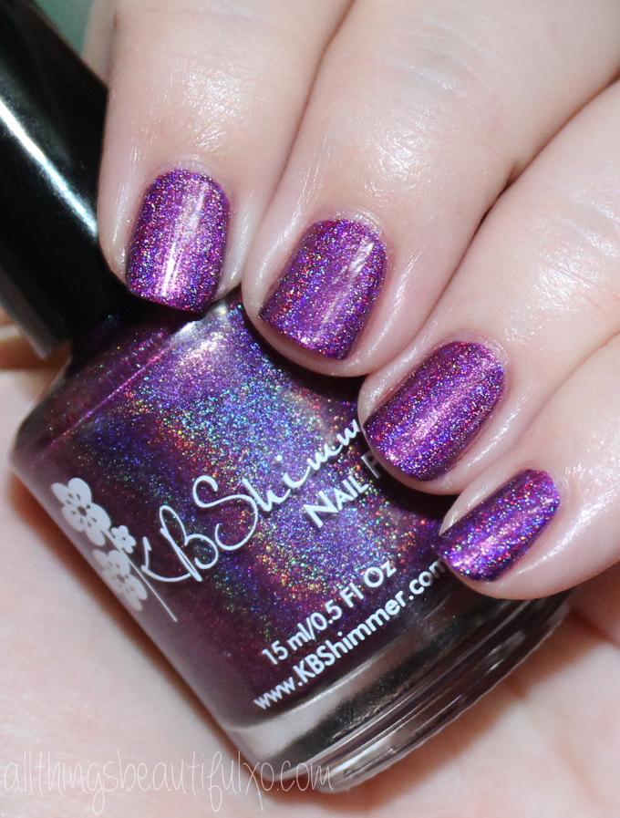 This is KBShimmer Orchidding Me Swatches & Review of the KBShimmer Fall / Autumn Collection 2016 . Check out more posts on nail art, makeup looks, & beauty reviews on All Things Beautiful XO