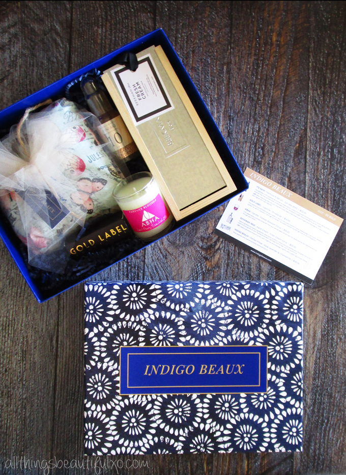 Check out my first Indigo Beaux box & what I think of the products inside! This luxe beauty subscription also donates to RAINN. See more beauty, nail art, & makeup posts on www.allthingsbeautifulxo.com
