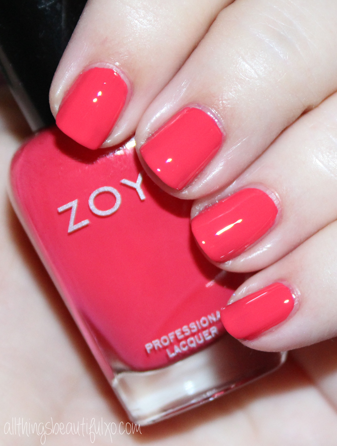 This is Zoya Dixie  Swatches & review of the Zoya Nail Polish Sunsets Collection including the shades Dory, Brynn, Liz, Cam, Dixie, & Ness on All Things Beautiful XO along with other beauty reviews, nail art, hair tutorials, & much more!