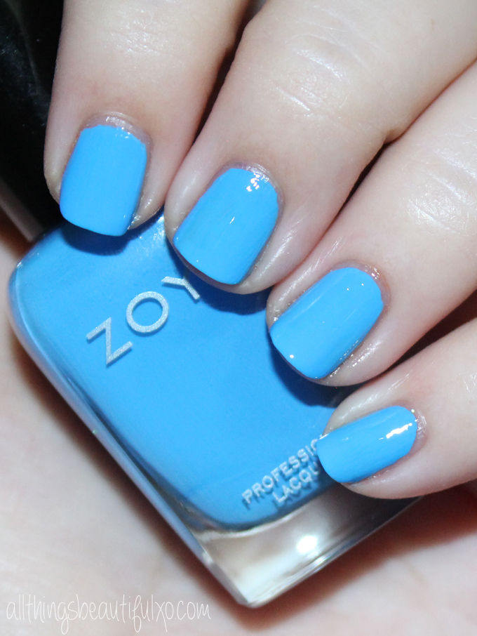 This is Zoya Dory  Swatches & review of the Zoya Nail Polish Sunsets Collection including the shades Dory, Brynn, Liz, Cam, Dixie, & Ness on All Things Beautiful XO along with other beauty reviews, nail art, hair tutorials, & much more!
