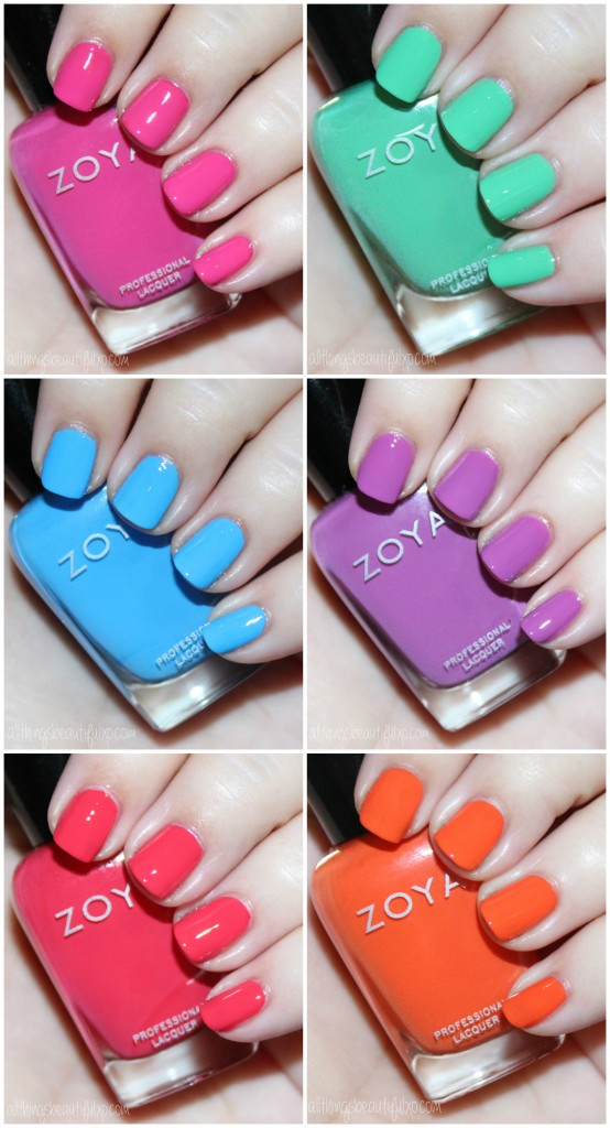 Swatches & review of the Zoya Nail Polish Sunsets Collection including the shades Dory, Brynn, Liz, Cam, Dixie, & Ness on All Things Beautiful XO along with other beauty reviews, nail art, hair tutorials, & much more!
