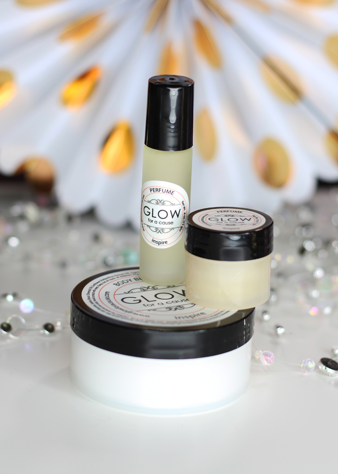 Glow for a Cause Inspire Perfume, Solid, & Body Lotion