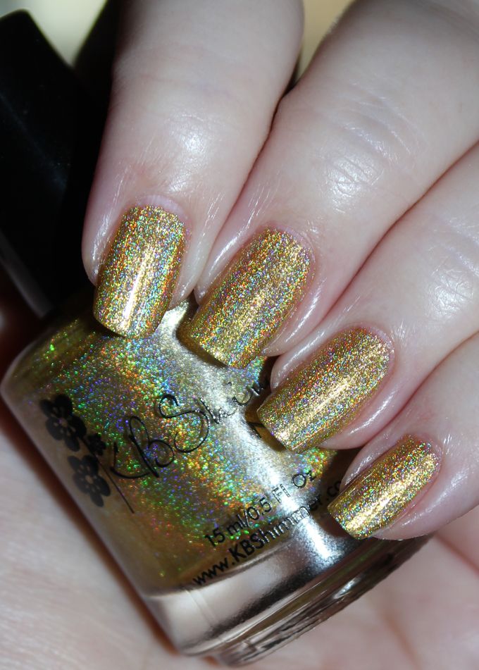This is KBShimmer Copa-Banana KBShimmer Nauti by Nature Collection Swatches & Review including a summer mani shot on All Things Beautiful XO