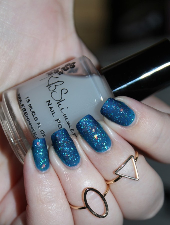 This is KBShimmer Show Me the Mahi with Oh Matte! Top Coat KBShimmer Nauti by Nature Collection Swatches & Review including a summer mani shot on All Things Beautiful XO