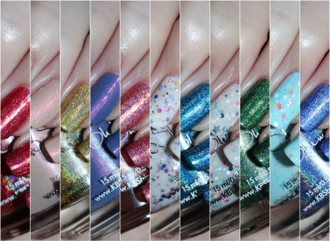 KBShimmer Nauti by Nature Collection Swatches & Review including a summer mani shot on All Things Beautiful XO