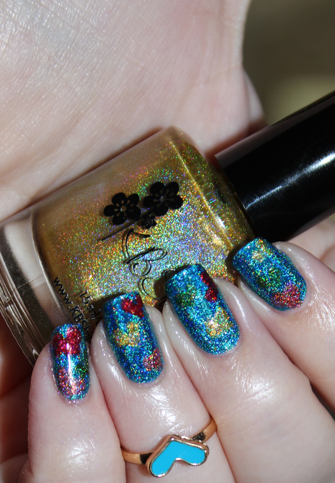 Feeling the Love Birthday Nail Art- Holo, Rainbow, & Hearts Oh My! Grab all the indie manicure details & see more makeup, beauty, & nail posts on All Things Beautiful XO