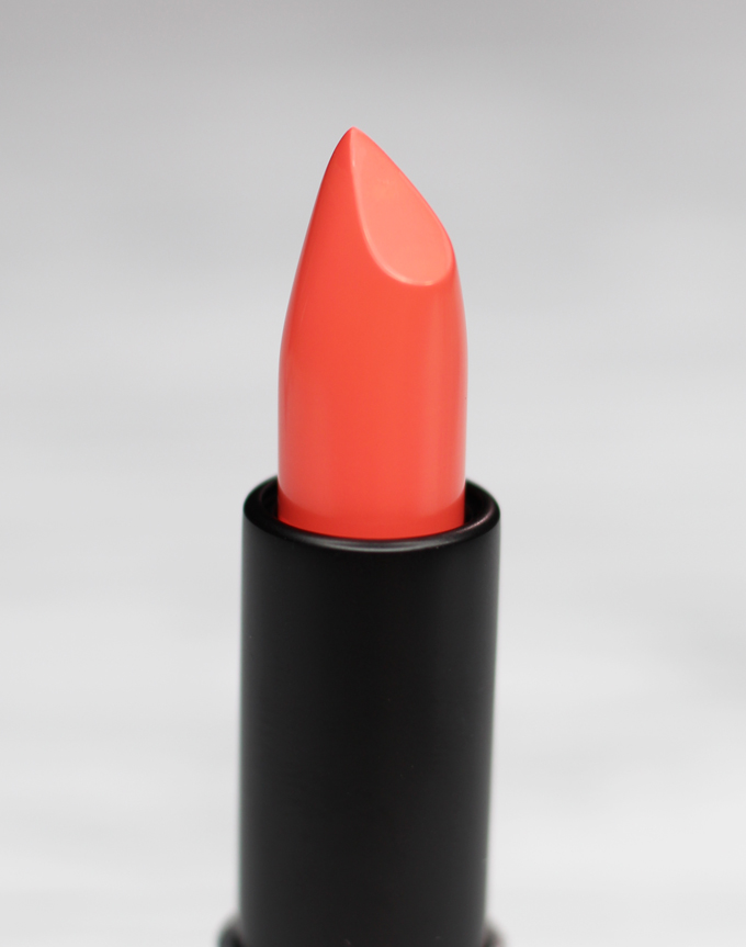 MUFE Artist Rouge Lipstick Satin Creme in C303 Orange Coral | I Bought a Bunch of MUFE Artist Rouge Lipsticks & Here's What I Think! (Make Up For Ever swatches, full face, & sass) on All Things Beautiful XO