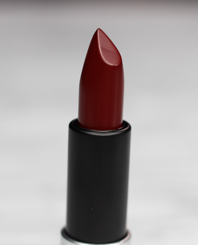 MUFE Artist Rouge Lipstick Satin Creme in C407 Black Red   I Bought a Bunch of MUFE Artist Rouge Lipsticks & Here's What I Think! (Make Up For Ever swatches, full face, & sass) on All Things Beautiful XO