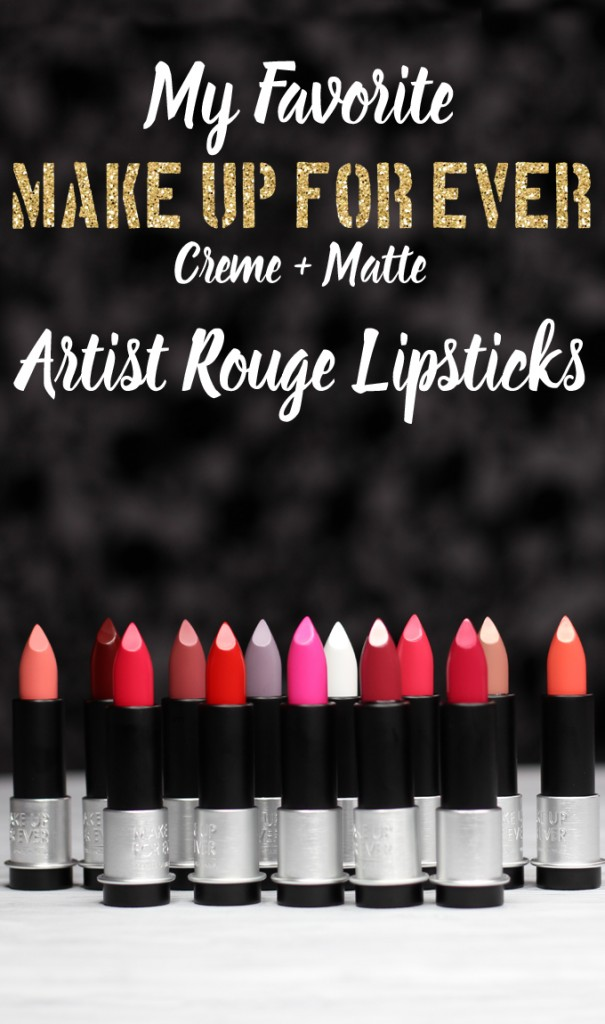 I Bought a Bunch of MUFE Artist Rouge Lipsticks & Here's What I Think! (Make Up For Ever swatches, full face, & sass) on All Things Beautiful XO