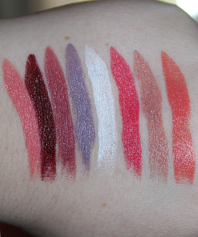 MUFE Creme Satin Swatches | I Bought a Bunch of MUFE Artist Rouge Lipsticks & Here's What I Think! (Make Up For Ever swatches, full face, & sass) on All Things Beautiful XO