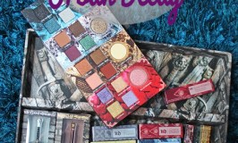 Swatches & review of the Urban Decay x Game of Thrones 24/7 Glide-On Eye Pencils, Vice Lipsticks, Mother of Dragons Highlight Palette, Sword Eyeshadow Brushes, & their Dracarys Lip & Cheek Stain on All Things Beautiful XO