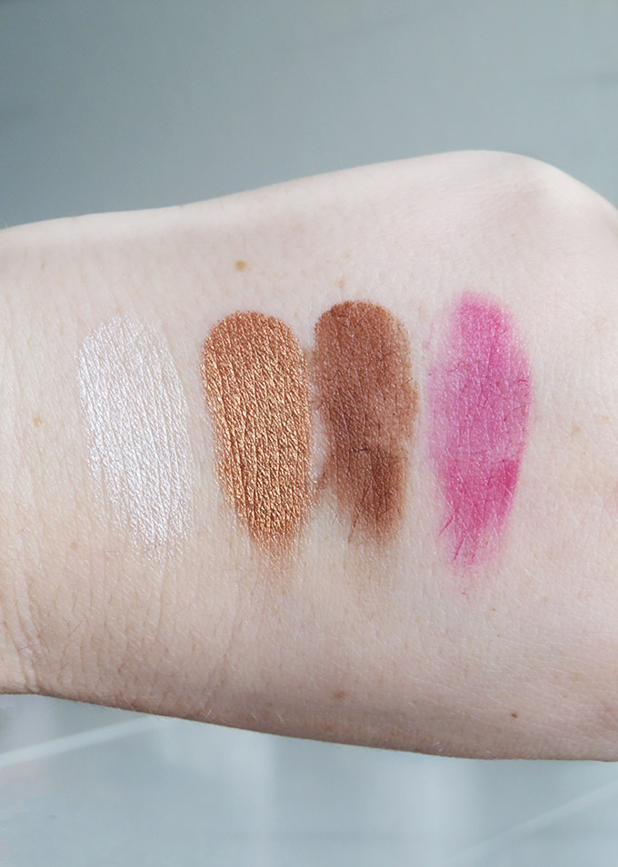 Swatches & review of The Organic Skin Co makeup line on All Things Beautiful XO