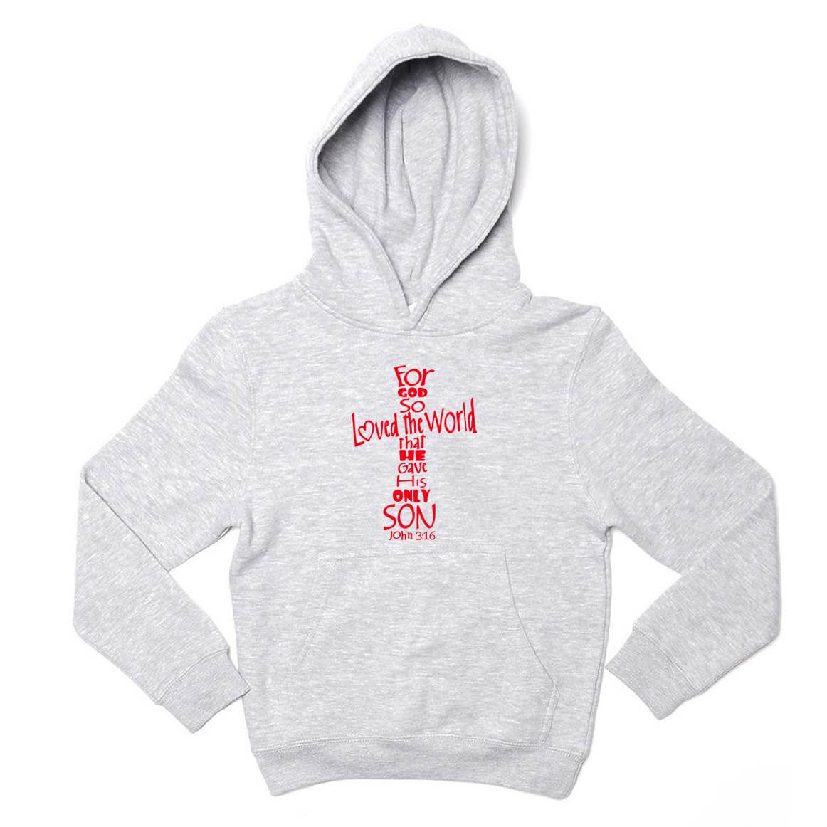 John 3 16 Youth Christian Sweatshirt Hoo