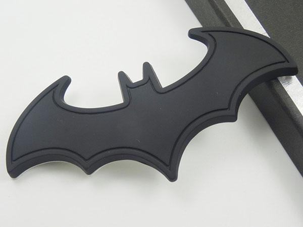Black BATMAN 3D Metal Autocarbike Logo Styling Badge