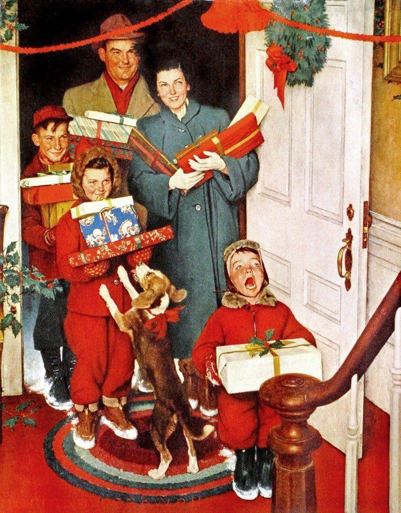 Norman Rockwell Christmas Wallpaper 1600