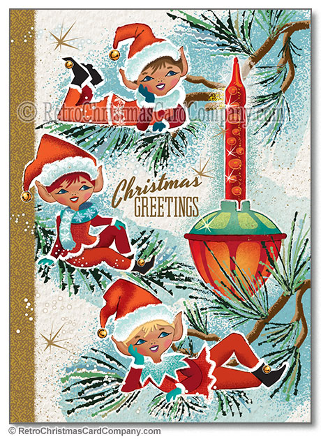 Awesome Retro Vintage Christmas Cards All Things Christmas