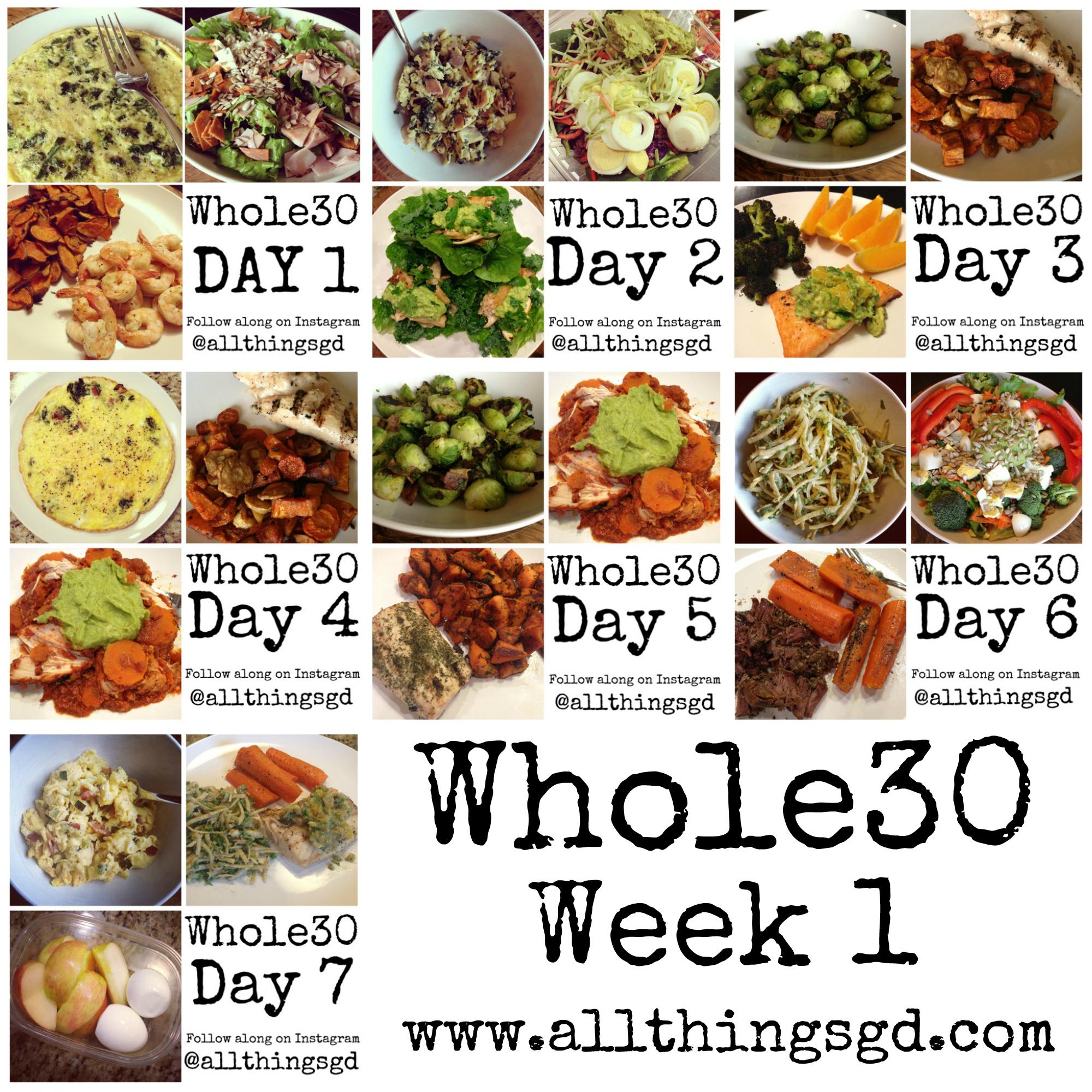 Whole30 Week 1
