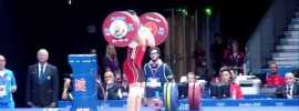 Zulfiya Chinshanlo London 2012 131kg World Record Clean & Jerk