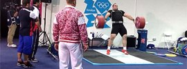Behdad Salimi 185kg Warm Up Snatch London 2012