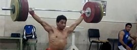 Rasoul Taghian 172kg Snatch at 77kg