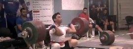 Rasoul Taghian 211kg Clean Jerk World Record