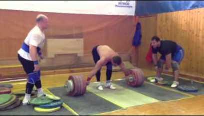 Dmitry Klokov 150kg x10 Power Snatch