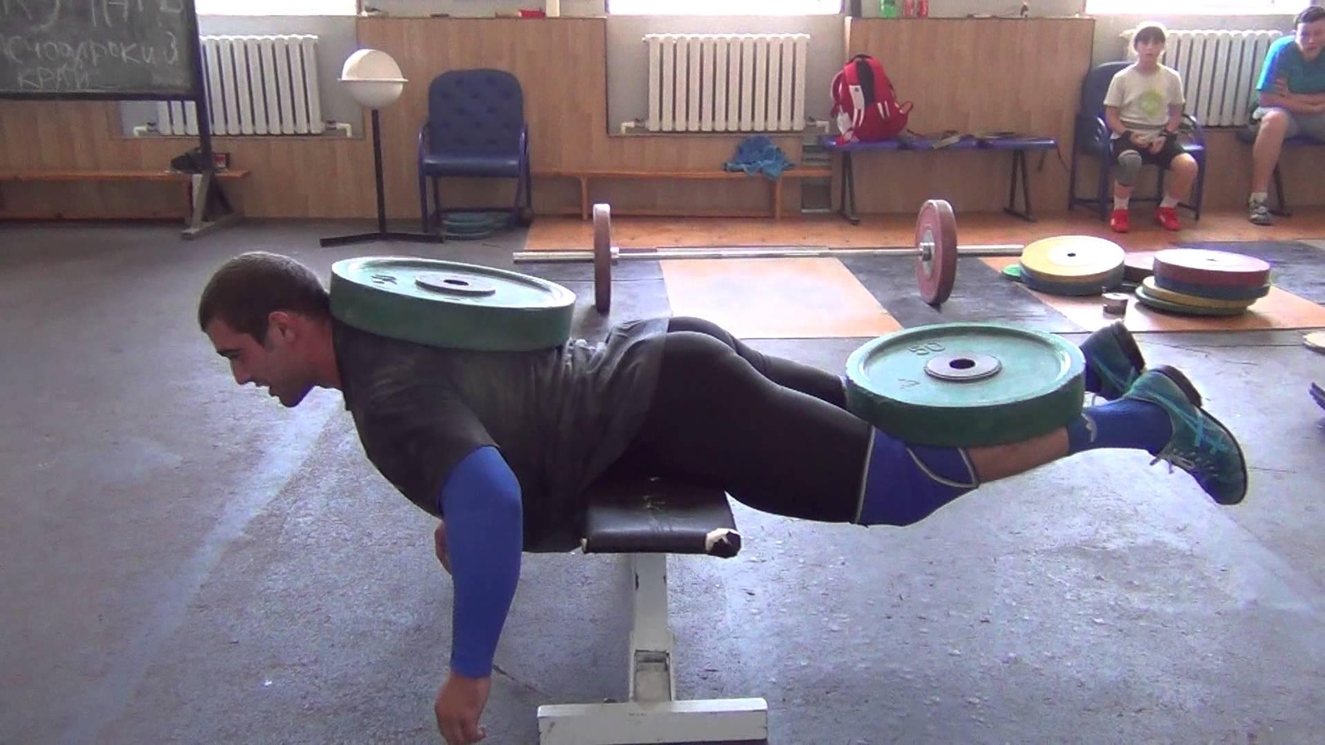 Vladislav Rigert & Dmitry Klokov 100kg Weighted Back ...