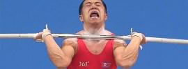 Om Yun Chol Best Korea Triple Bodyweight Clean Jerk Face Weightlifting Intensity